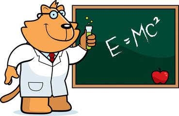 Cartoon Cat Scientist