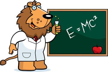 Cartoon Lion Scientist