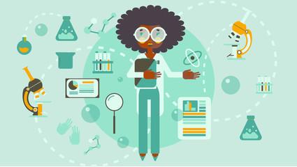 African american woman scientist