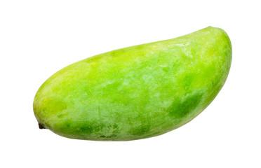 Mango green isolated on white background.