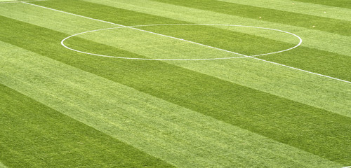 close up of soccer field grass
