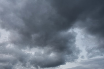 dark sky with clouds. Close-up