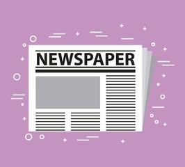newspaper press activities work equipment vector illustration