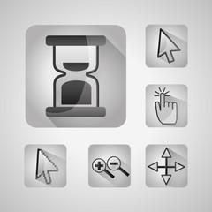 gps navigation application app set tools location vector illustration