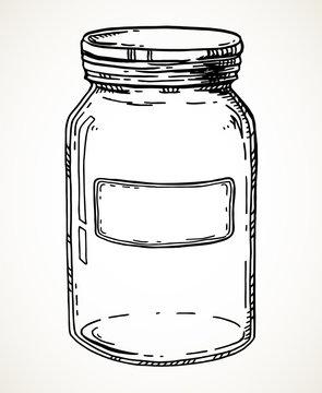 Hand drawn jar