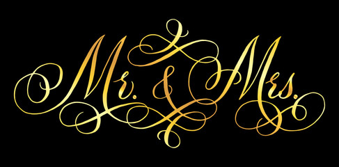 Wedding modern calligraphy
