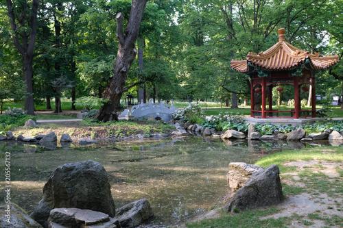 Warschau Chinesicher Tempel Lazienki Park 2018 Stock Photo And