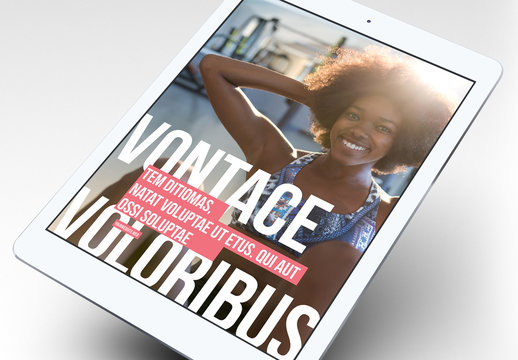 Fitness-eBook-Layout im Fettdruck