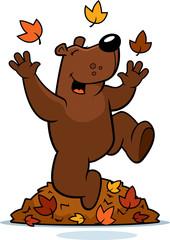 Cartoon Bear Autumn