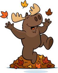 Cartoon Moose Autumn