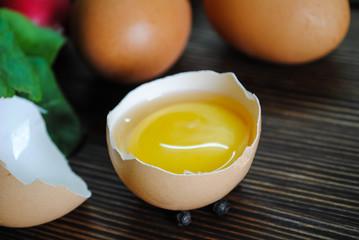 Raw chicken egg