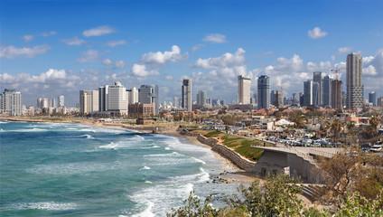 TEL AVIV, ISRAEL - MARCH 2, 2015: The coast and waterfront of Tel Aviv