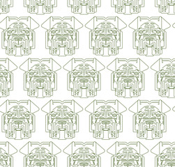 Dog vector seamless pattern cute illustration home pets doggy different breed. Modern vector plain line design icons and pictograms.