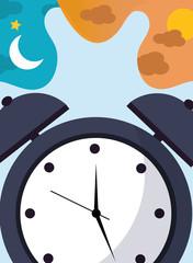 alarm clock time classic bell vector illustration