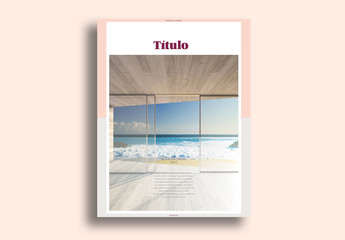 Diseño minimalista de book para branding