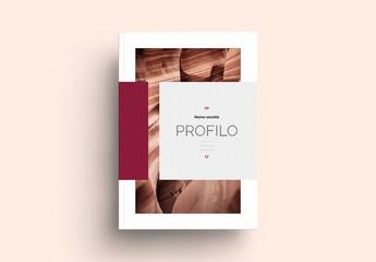 Layout moderno da libro per pubblicazioni artistiche