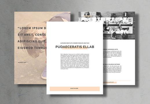 Diseño de cuaderno de clase sencillo