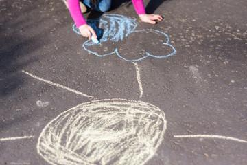 Chalk drawing child