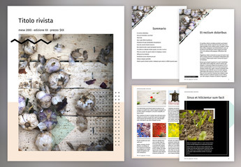 Layout rivista digitale trendy