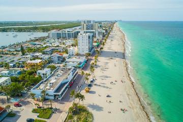 Aerial Hollywood Beach Florida United States