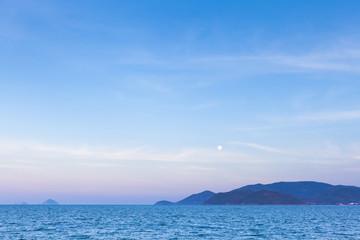 Moonrise in Nha Trang, Vietnam.