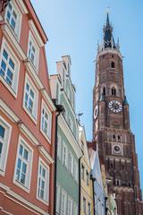 Blick auf die St. Martin Kirche in Landshut