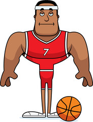 Cartoon Bored Basketball Player
