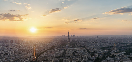 Paris skyline - panorama from the Montparnass tower