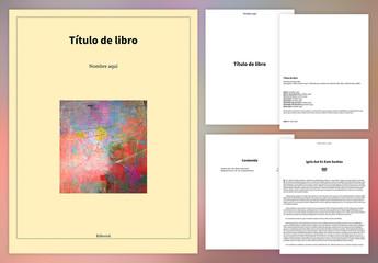 Diseño sencillo de libro para publicación digital
