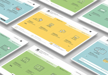 5 Square Website Layouts