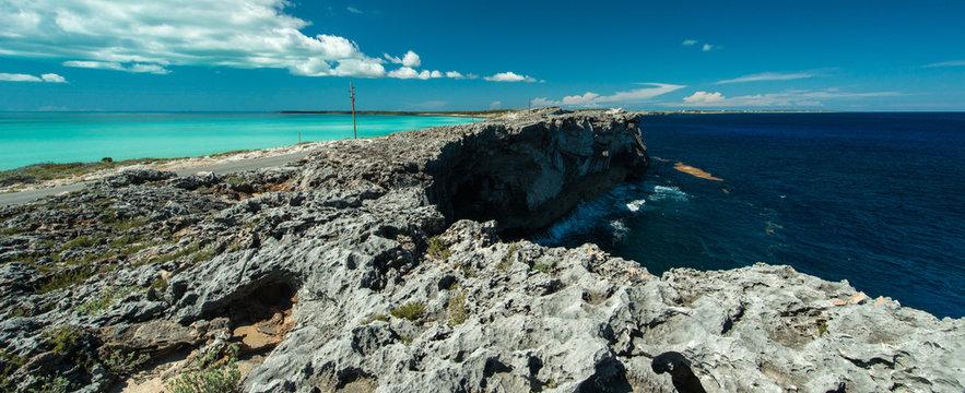 Glass Window bridge, Eleuthera Island, Bahamas
