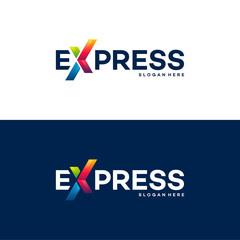 Fast Forward Express logo designs vector, Modern Express logo template, design concept