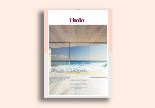 Layout libro con marchio minimalista