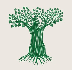 Vector Tree Silhouette, art vector design