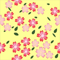 Seamless pattern floral background