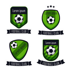 Football Club Logo Vector Template Design Illustration