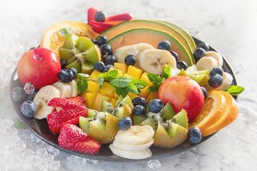 Wall Mural - Fruit and berries platter.