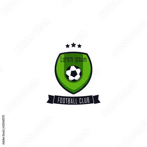 Football Club Logo Vector Template Design Illustration Stock Image