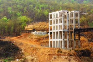 Building bridge unfinish,structure