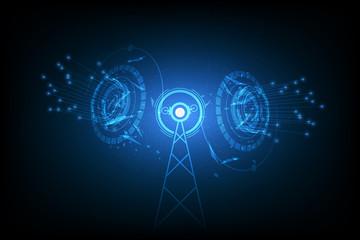 vector internet signal spot, antenna communication technology Fototapete