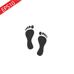 feet icon vector , stock vector illustration flat design style