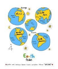 세계지도 / 손으로 그린 지구