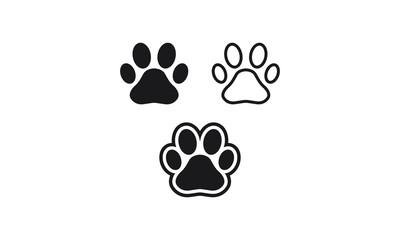 Paw Print vector logo symbol icon