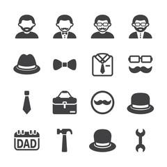 Father icon set