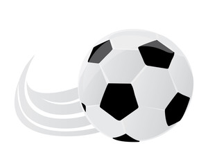 Vector illustration of a soccer ball.