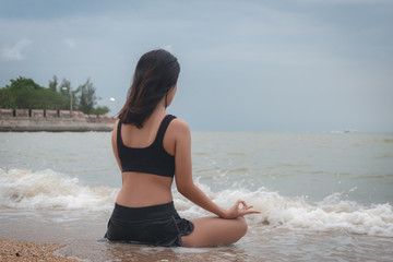 Serenity, meditation and yoga practicing