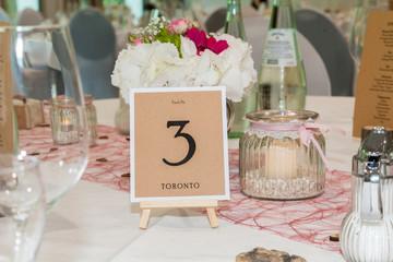 Tischaufsteller Hochzeit