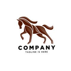 stand horse part art logo