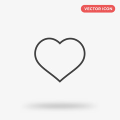 Line heart icon isolated on white background