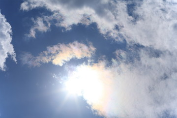 sun and White clouds